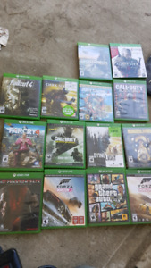 Xbox one, 2 controllers and games for sale