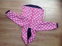 JoJo maman Bebe girls coat/rain mac (12-18 mths)