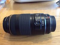Canon EF 70-300 Lens c/w lens hood, UV filter and instruction manual
