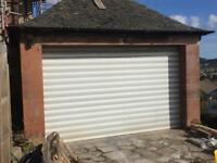 Automatic double garage door - roller shutter