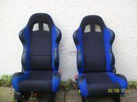 2x reclining bucket seats