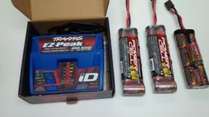 traxxas ez peak rc charger and 3 nimh batteries