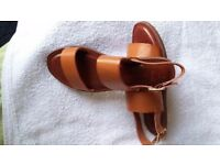 Sandals- Genuine Leather - Size 5