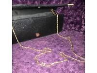 New Glittery Black Handbag