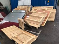 WOOD WOODEN CRATE SHED MATERIALS CORRUGATED SHEETS - FREE