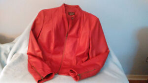 GORGEOUS BN DANIER LEATHER JACKET, BOMBER STYLE