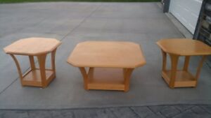 Solid Oak Wood End Tables & CoffeeTable