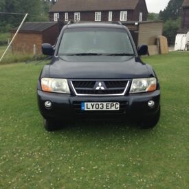 2003 MITSUBISHI SHOGUN EQUIPPE AUTOMATIC 3.2 DID LWB 7 SEATER 5 DOOR 4 X 4 CAR