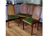 4 x solid wood dining chairs