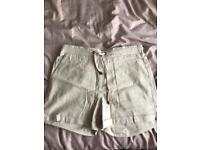 Women's size 14 cream shorts