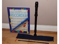 Aulos 303A-E recorder & beginners book