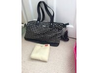 Storksak in Diamonds Black and White Changing Bag