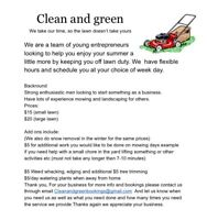 Clean and green outdoor care