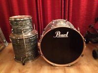 Pearl EXR (Export Drum Series) 3 piece drum shells with FREE SET OF SABIAN CYMBALS AND MEINEL CRASH