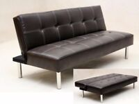 Super thicker Brand New Natalia Faux Leather Sofa Bed // ** Same day Delivery ***