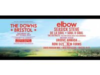 2 tickets for Elbow @ Bristol Downs 2/9/17 (with Groove Armada, Soul II Soul, Seasick Steve & more)