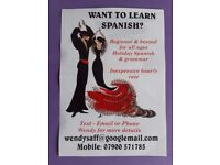 Spanish Lessons with an experienced lady tutor.