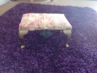 Lovely little footstool,can be viewed in Twist & Shout Emporium,Derby Rd Bootle/corner Bankhall st