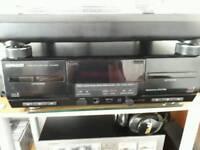 Kenwood kxf w40390 auto reverse double cassette deck.