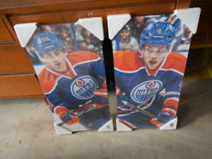 28 by 14 picture of Hall and Eberle from the oilers