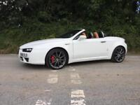 2008 08 ALFA ROMEO SPIDER 2.2 JTS LIMITED EDITION WHITE FULL TAN LEATHER