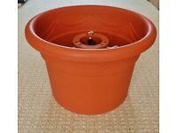 Terracotta Brown Toughened Plastic 40cm Diameter Christmas Tree Stand / Holder / Planter Style Pot