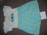 """Sesame Street Cookie Monster """"Me like lemons"""" dress/playsuit for girl 4 years old."""