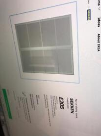 Ikea pax frosted glass wardrobe