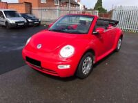 Volkswagen Beetle 1.4 Cabriolet 2dr - 2005, MOT MAY 2018, SERVICE HISTORY 4 OWNERS, PX, TRADE ONLY