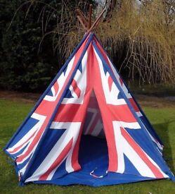 Wigwam Teepee Play Tent -Canvas - Union Jack print