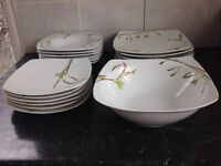 French table dinner set 19 pieces