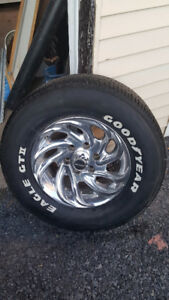 From a 2000 chevy rims and tires