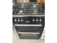 Black gas cooker 60cm.. Mint free delivery