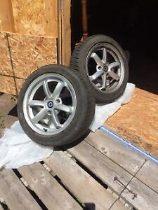 Smart Car winter tires and aluminum rims