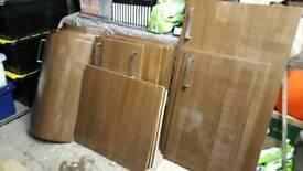 Kitchen doors - Howdens high gloss walnut wood effect kitchen unit doors/cupboard fronts