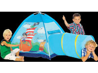 Boxed Pirate Hideout House Childrens Pop-Up Tent with Tunnel