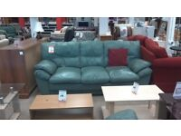 Lovely green leather sofa
