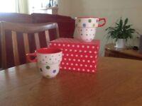 Decorative mugs M&S unused