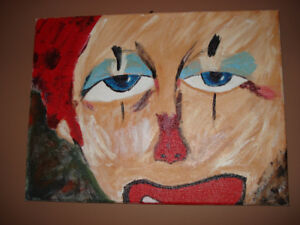 Toile 12'' x 16''. Clown.