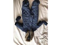 Up to a month snowsuit