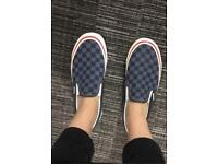 LIMITED ADDITION 50th anniversary blue checkerboard vans