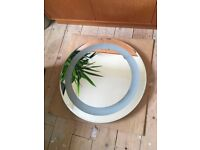 Bathroom mirror. Illuminated. Round. Bevelled edge. NEW. 60CM