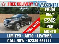FORD RANGER 2.2 TDI LIMITED DOUBLECAB AUTOMATIC 150 BHP LEATHER 5 SEATS