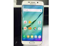 Samsung Galaxy S6 Edge SM-G925F Smart Mobile phone unlocked. good condition White 64GB