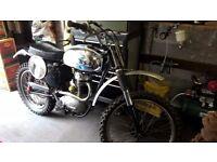 1956/57 bsa c15 motor crosser used in pre 60s scrambles