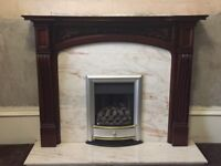 marble fireplace set