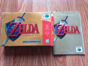 Zelda OoT box and manual only (Nintendo N64 )