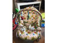 Vibrating baby seat/rocker