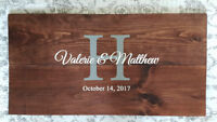 """Handcrafted Wooden Signs (gifts, decor & """"guestbooks"""")"""