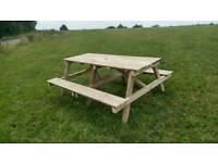 8/10 seater picnic table hand made